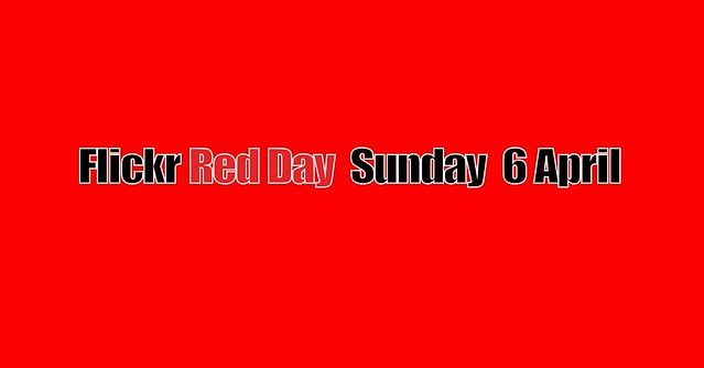 flickr Red Day - Sunday 6. April 2014 - Protest against Beta Version, which is now the new layout of English flickr
