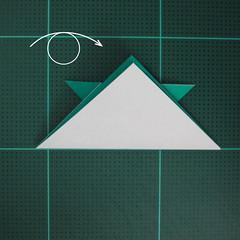 วิธีพับกระดาษเป็นรูปหมวกซามุไร (Origami Samurai Hat) 010
