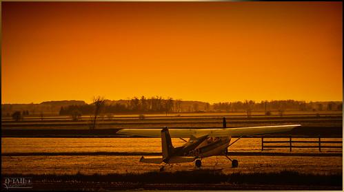 morning orange color plane sunrise landscape limit skys avion