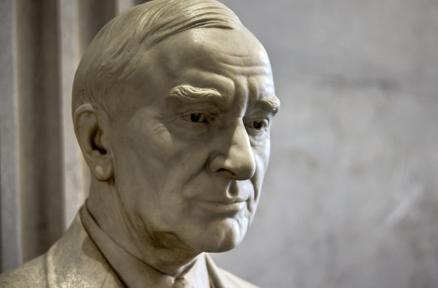 Cordell Hull bust, Tennessee State Capitol, Nashville, Tennessee