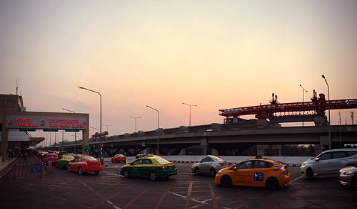 bangkok international airport don mueang taxis thailand sunset terminal 2 southeast asia