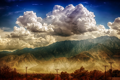 deserthotsprings dhs mountains sky clouds telephonepoles view hdr hbmike2000 nikon d200 landscape