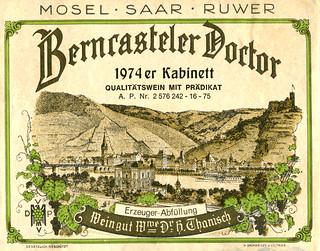 Berncasteler Doctor 1974 (Mosel)