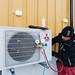Montering av varmepumpe utedel