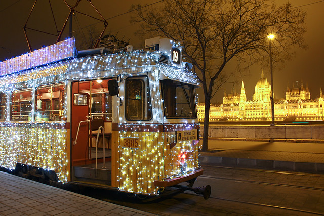 Christmas tram in Budapest 16