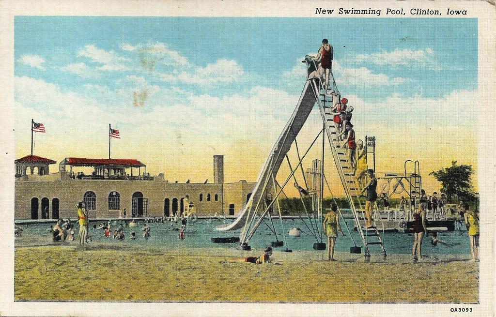 Clinton, Iowa, Swimming Pool, Sliding Board | photolibrarian ...