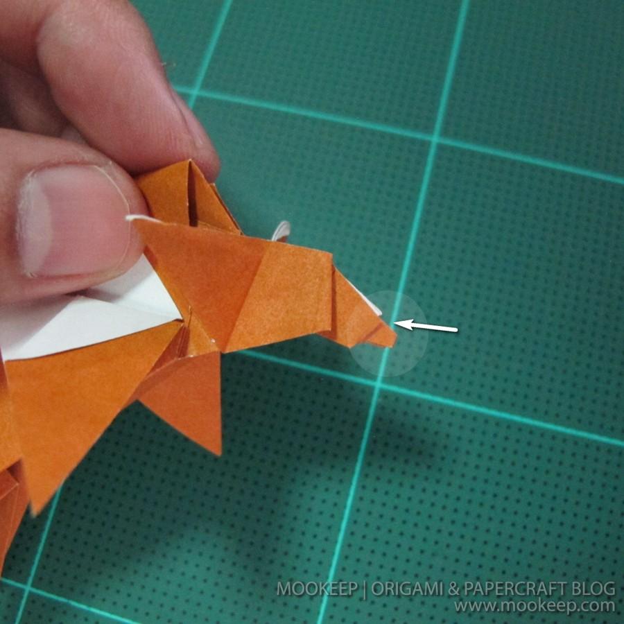 วิธีพับกระดาษเป็นรูปหมี (Origami Bear) 037