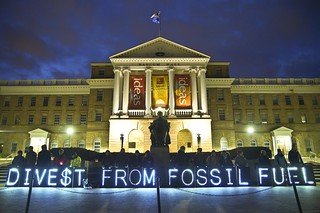 Divest From Fossil Fuel | by Overpass Light Brigade