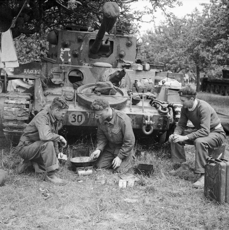 Un Cromwell tripulación del tanque