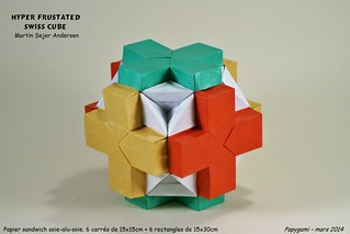 Hyper Frustated Swiss Cube - Martin Sejer Andersen | by Papygami