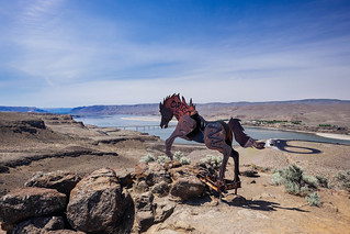 Wild Horses Monument over the Columbia | by Taomeister