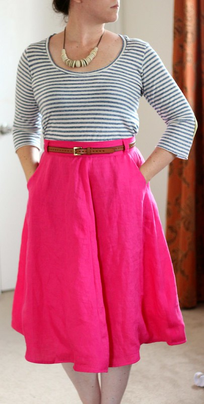 may 28 #mmmay14 hot pink hollyburn skirt front
