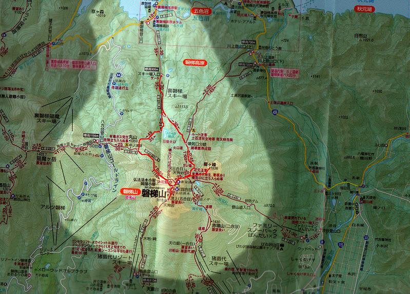 磐梯山のコース