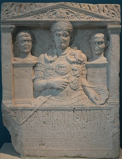 Cenotaph of Marcus Caelius, 1st centurion of Legio XVIII, who fell in the war of Varus (Battle in the Teutoburg Forest (9 AD), LVR-LandesMuseum Bonn