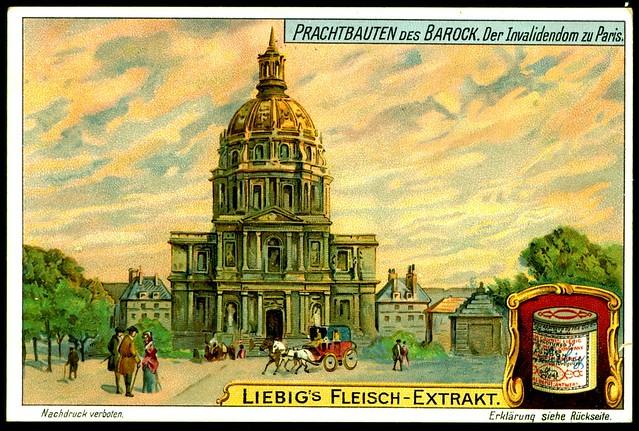 Liebig S1074 Baroque Monuments ~ Les Invalides, Paris