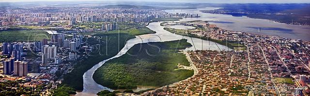 Aracaju-Sergipe - Brazil - Air view of Orla de Atalaia (Atalaia Seaside) and around