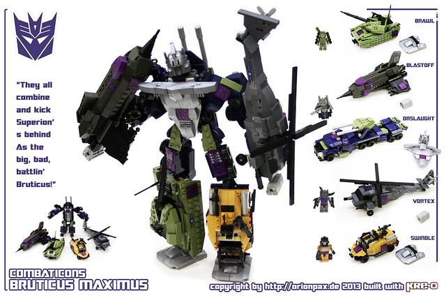 KRE-O Transformers G1 Bruticus Maximus