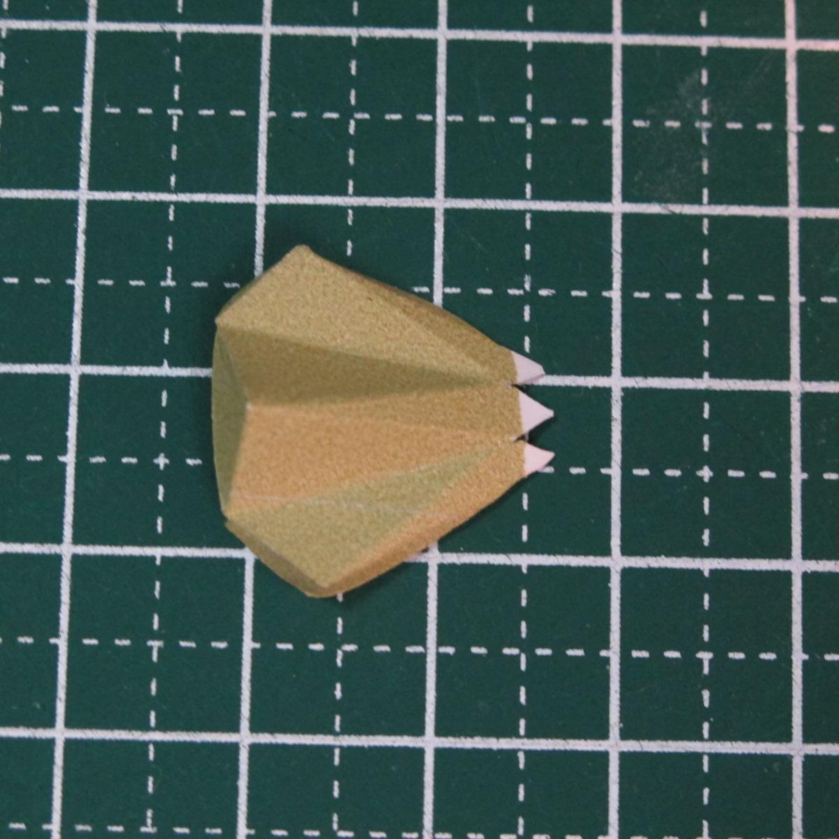 วิธีการทำโมเดลกระดาษเป็นสตอเบอรี่สีแดง 004
