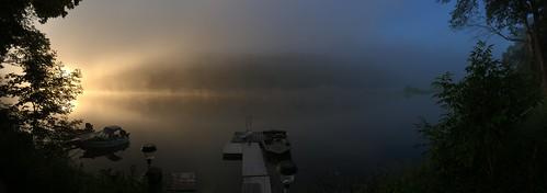 sky water sunrise river scenery outdoor pennsylvania gap poconos delaware trippy
