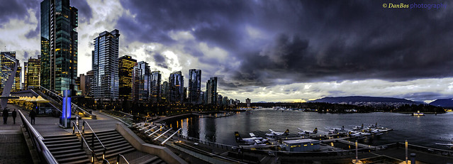 Vancouver by Night - pano