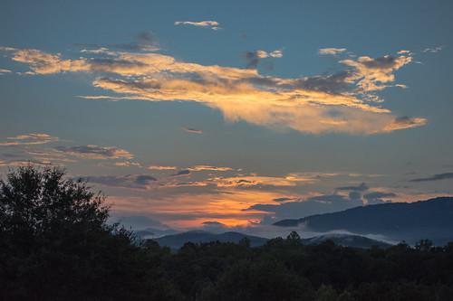 theredhorseinn sunset blueridgemountains greenville sc landrum