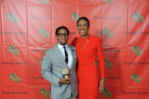 D.L. Hughley and Robin Roberts   by Peabody Awards