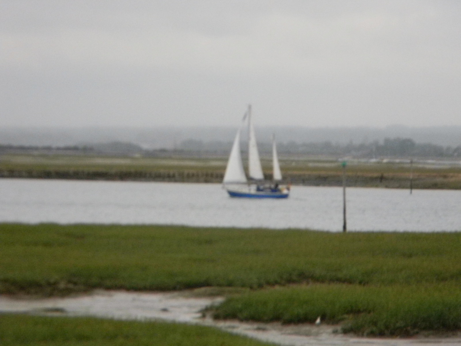 Wallis-esque boat Chichester to West Wittering