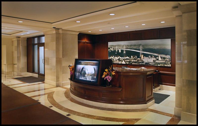Hills Plaza Lobby, front reception desk