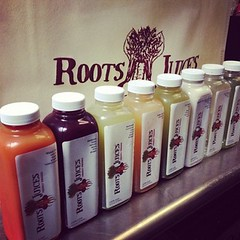 Roots Juices juice line up - delicious juicing recipes!