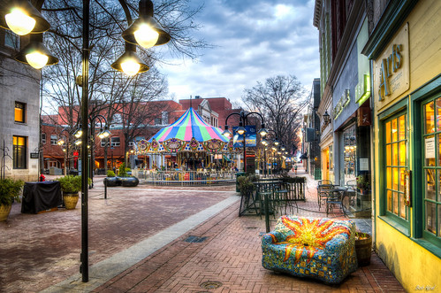 sunrise dawn virginia nikon downtown charlottesville dtm hdr lightroom downtownmall photomatix nikkor1755mmf28g d5100 bobmical