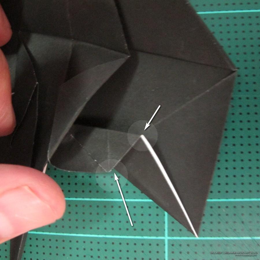 วิธีการพับกระดาษเป็นรูปจิงโจ้ (Origami Kangaroo) 009