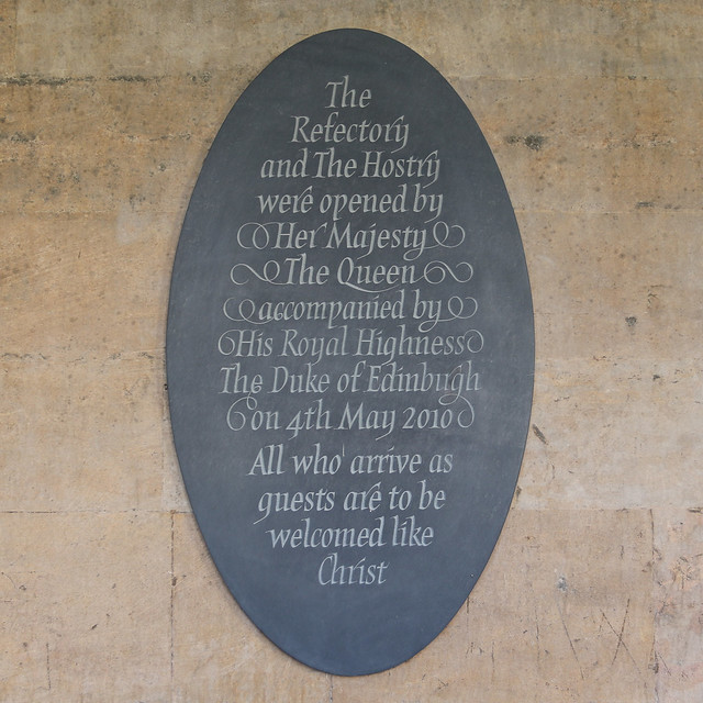 The Refectory and The Hostry were opened by Her Majesty The Queen