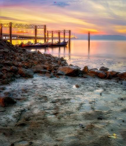 penang penangisland georgetown pulaupinang malaysia georgetownpenang my sunrises sunrise landscape shore clouds seashore seascape nikon50mmf18g 50mmf18g nikond750 nikon ahweilungwei penangbridge magichour gelugor