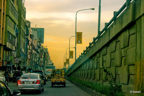 road street sunset sky cloud color canon evening photo afternoon dhaka eos1100d seeam