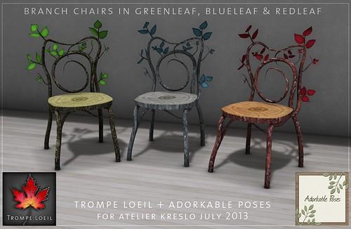 Trompe Loeil + Adorkable Poses Branch Chairs - Atelier Kreslo July 13