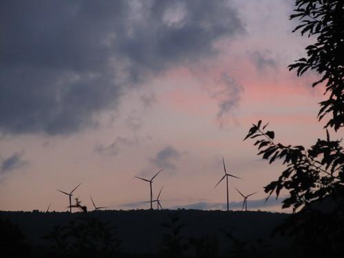 sunset summer sky mountains evening windmills pa altoonapa blaircountypa mountaiontop