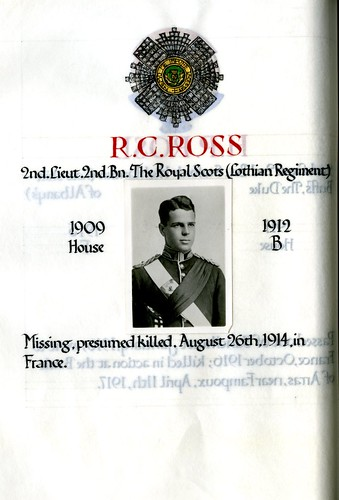Ross, Ronald Campbell (1895-1914) | by sherborneschoolarchives