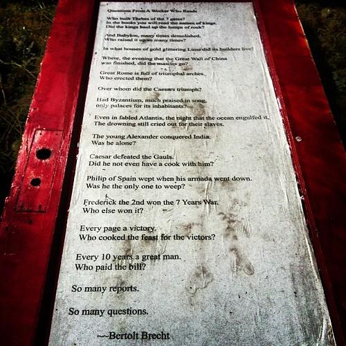 BERTOLT BRECHT #bertoltbrecht  #poetry #albertapdx | by Kaptain Amerika