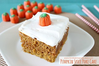Pumpkin Spice Poke Cake | by lovebakesgoodcakes