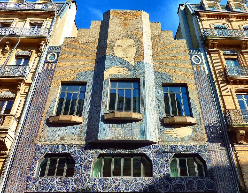 """Rue De La Deco l'art-déco à toulouse   immeuble situé rue d""""alsace-lorraine"""