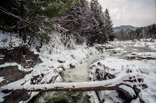 log across wild river winter 1996