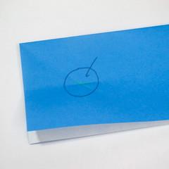 วิธีการตัดกระดาษเป็นห้าเหลี่ยมจากกระดาษสี่เหลี่ยมจตุรัส 010