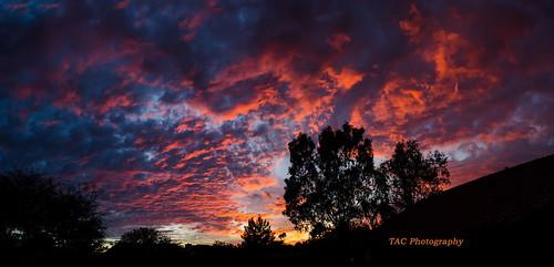 sunset arizona arizonasky redsky brilliant skyonfire cloudsstormssunsetssunrises stormysky tomclarknet tacphotography