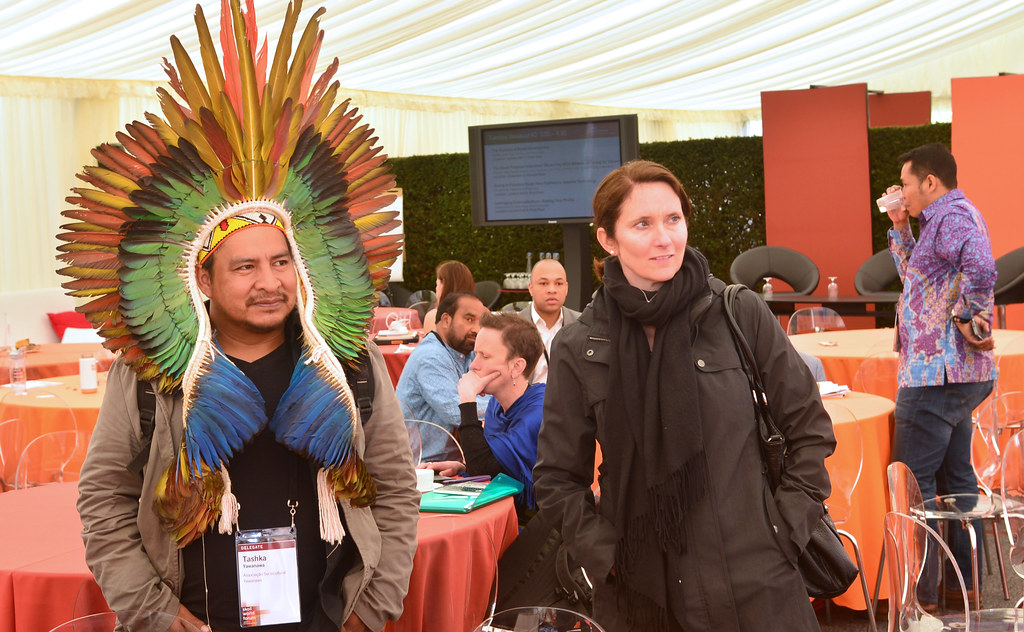 Tashka Yawanawá, Chief of the Yawanawá, at the 2014 SASE Convening - skollwf 2014