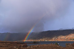 double rainbow, Letterewe, Loch Maree