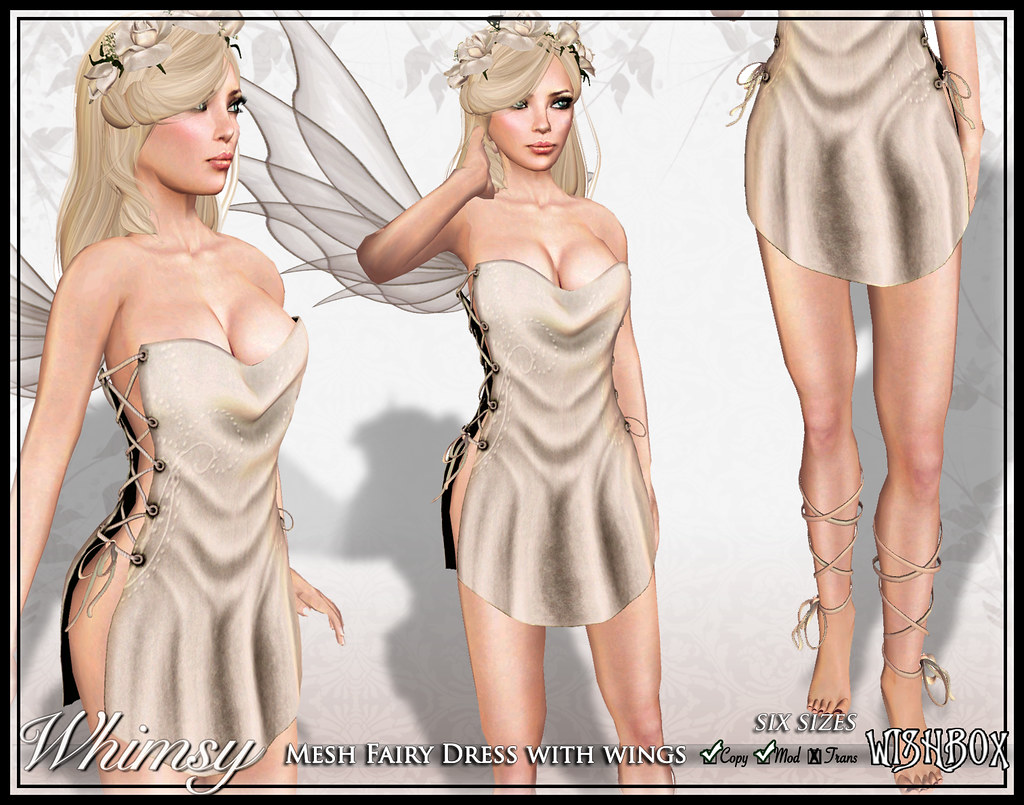 Whimsy Mesh Fairy (Champagne)