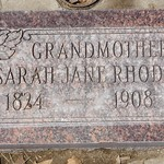 Lawrence Sarah Jane Rhodes headstone