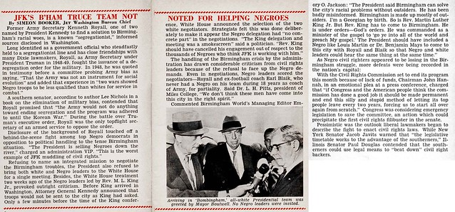 President Kennedy's Birmingham Truce Team is Not Noted For Helping Blacks - Jet Magazine, October 10, 1963