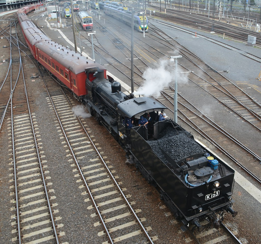 K153 Rail/Sail departing Southern Cross by LOCOPOWER