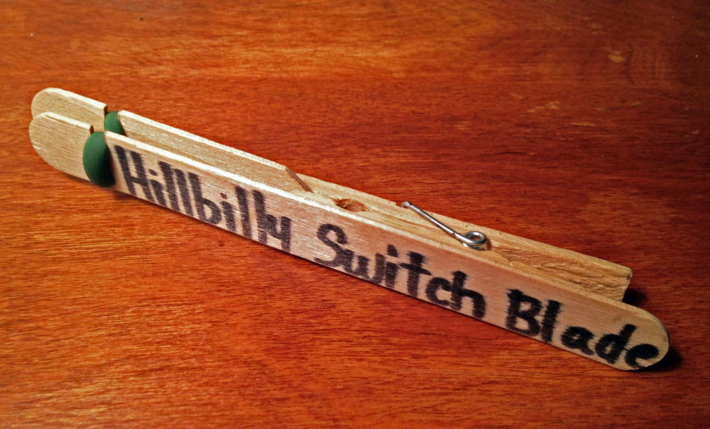 Hillbilly Switchblade | Something made from wood    how abou… | Flickr